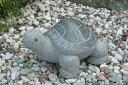 【縁起物】 石の亀(御影石)【送料無料】亀は【万年】長寿のシンボル石の彫刻品でできたかわいぃ亀さんです玉砂利や庭石の上などにもピッタリ♪【亀のオーナメント】