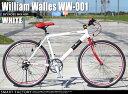 自転車 クロスバイク William Walles WW-001 (2色) 2014年モデル 26インチ自転車 シマノ製6段変速 可動式ステム 自転車 メンズ レディース 通販 激安【送料無料】