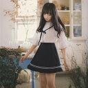即納 森ガール プリーツ デザイン しっかり 下半身 カバー セーラー風 スカート ホワイト ブラック ネイビー 3色 フリーサイズ
