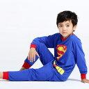 子供 スーパーマン 長袖Tシャツ ロングパンツセット 男の子 子ども 上下セット パジャマ 寝巻き