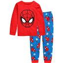 再入荷 スパイダーマン 長袖 パジャマ 赤/青色 長袖Tシャツ&ロングパンツ セット 男の子 キッズ 子どもパジャマ スパイダーマン