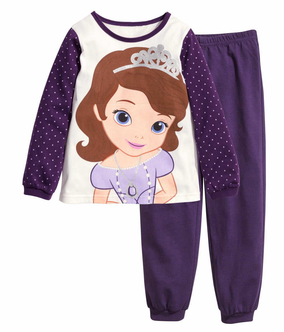 プリンセスソフィア長袖Tシャツロングパンツパジャマ上下セット女の子パジャマ子ども子供キッズパジャマ長