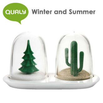 QUALY Winter and Summer salt & pepper shakers (set of 2 pieces) / クオーリー fs3gm