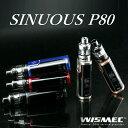 【あす楽】【電池付】WISMEC SINUOUS P80 ELABO miniウィズメック [シニュアスP80+エラボミニキット]電子タバコ 電子たばこ セット VA..