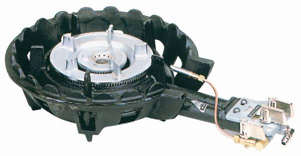 タチバナ製作所 鋳物コンロ(ハイカロリータイプ) 二重羽根付 種火付 底枠付 TS-208P (業務用ガスバーナー)