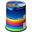 三菱化学メディア バーベイタムデータ用16倍速対応DVD-R 100枚パック 4.7G ホワイトプリンタブル