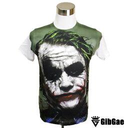 デザインTシャツ GibGae JOKER2 ジョーカー2 映画Tシャツ アメコミ DCコミック ダークナイト <strong>ヒース・レジャー</strong> Tシャツ メンズ レディース サイズM&L