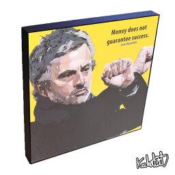 Jos? Mourinho ジョゼ・<strong>モウリーニョ</strong> KEETATAT SITTHIKET インテリア雑貨 おしゃれ ポップアートフレーム ポップアートパネル 絵 イラスト グラフィック 壁掛け サッカー監督 名将 レジェンド