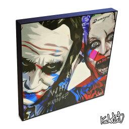 Joker&Joker ジョーカー&ジョーカー KEETATAT SITTHIKET インテリア雑貨 おしゃれ ポップアートフレーム ポップアートパネル 絵 イラスト グラフィック 壁掛け <strong>ヒース・レジャー</strong> ジャレット・レト DCコミック スーサイド・スクワッド アメコミ 映画 キャラクター