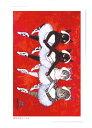 B0013 猫ポストカード アートボードバレリーニャ【小さい4羽の白鳥】北田浩子