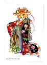 猫 蛙 歌舞伎 ポストカード 和風 絵画 オリジナル 北田浩子「和伝統芸」【助六由縁江戸桜】