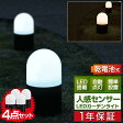 LED センサーライト ガーデンライト センサー ライト 防犯 屋外 外灯 イルミネーション 電池式人感センサー搭載 LEDガーデンライト〈4本セット〉【送料無料】