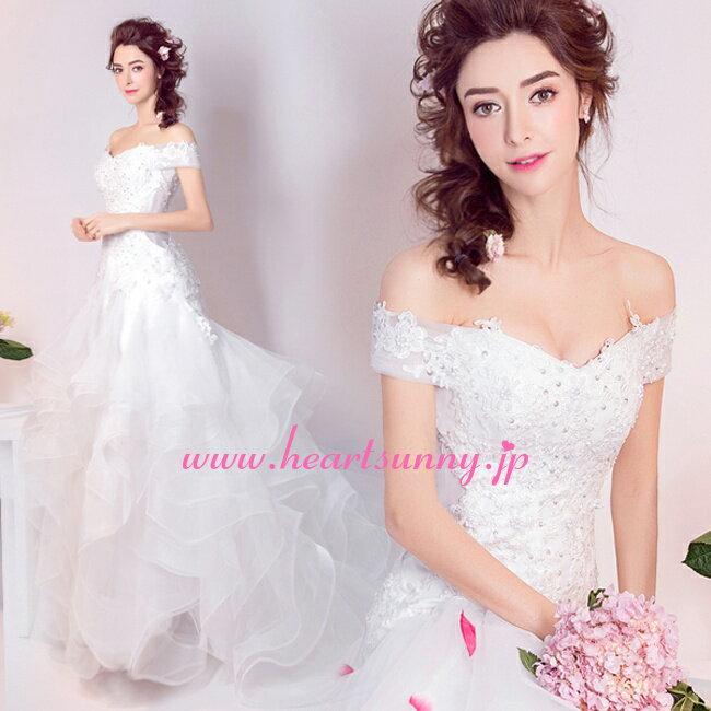 ウェディングドレス マーメイド☆E278☆セクシ...の商品画像