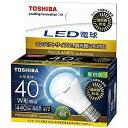 【送料無料】東芝ライテック LED電球LDA5N-G-E17/S/D40W広配光タイプ小形電球40W形相当【LDA5NGE17SD40W】昼白色/E17口金
