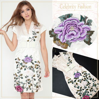 ★ luxury atmosphere ★ lace & falling body flower embroidered one piece ★ autumn/winter / limited / sale / %OFF/ ethnic / women /