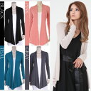 LA select  long length stretch mesh drape cardigan, the stretch mesh which is flexible, and are light, the drape which flow in multi- outstanding performance  direct import, LA celebrity  [lacc09029] Mother's Day / spring / ethnic / Lady's / [RCP]