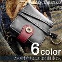 ショッピングマクラーレン 取寄品 MACLAREN.co 本革使用 ウォッシュ ドレザー 二つ折り財布 短財布 MC-0606 メンズ財布