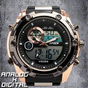 デュアルタイム アナデジ腕時計 デジアナ HPFS618A-...