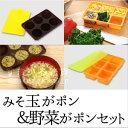味噌玉ストッカー&冷凍野菜ストッカーセット/お買い得セット/...