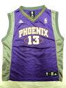 【送料無料】【あす楽】【中古】 adidas アディダス バスケタンク ヴァイオレット×ホワイト×オレンジ×グレー Boy's L PHOENIX NBA