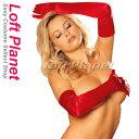 ロンググローブ 赤サテン調の長手袋 サンタ&クリスマス衣装 M1-HG0010