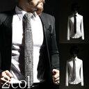 【ByTheR】【自社デザイン・製作】【R stud custom tie】[b-book01] studスタイル studネクタイ カスタムスタイル …