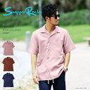 ◆ポリトロ半袖オープンカラーシャツ◆シャツ 半袖 メン