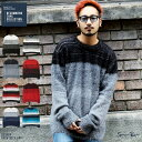 ◆シャギークルーニット◆ニット メンズ セーター クルーネック シャギー トップス カジュアル あったか 秋冬 メンズファッション