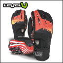 4 2013 model lve13-006 [LEVEL/ level] glove LVL JAPAN/WHITE-RED