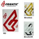 【スマホエントリ限定でP10倍1/14 10時〜】FANATIC ファナティック ステッカー F CI Logo set 縦 20cm