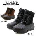 al-wp1620 【ALBATRE/アルバートル】Snow Boots AL-WP1620/ユニセックス 完全防水ソール/ショートブーツ/全面ボア貼り