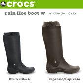 【楽天カード決済でポイント10倍!】クロックス CROCS レインブーツ rain floe boot w レインフロー ブーツ ウィメン 12424 レディース