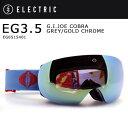 2016 ELECTRIC エレクトリック ゴーグル EG3.5 G.I.JOE COBRA GREY/GOLD CHROME EG6515401 アジアンフィット
