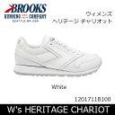 【大特価】ブルックス BROOKS スニーカー ウィメンズ W's HERITAGE CHARIOT ヘリテージ チャリオット White 1201711B 日本正規品【靴】