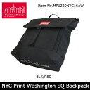 【日本正規品】 マンハッタンポーテージManhattanPortage NYC Print Washington SQ Backpack MP1220NYC16...