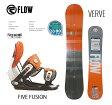 2016 FLOW フロー スノーボード 板 ビンディング 2点セット VERVE&FIVE FUSION GREYORANGE サイズL