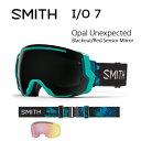 2017 スミス SMITH OPTICS ゴーグル I/O 7 Opal Unexpected Opal UnexpectedBlackout/Red Sensor Mirror【ゴーグル】ミディアムフィット アジアンフィット