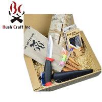 ブッシュクラフト Bush Craft ブッシュクラフトスターティングセット/火おこしセット・ルーキーナイフあり 【BBQ】【CZAK】 火おこし 着火剤 燃料 アウトドア キャンプの画像