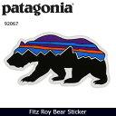 【ステッカー3000円以上購入で送料無料】パタゴニア Patagonia Fitz Roy Bear Sticker 92067 【雑貨】 ステッカー シール 日本正規品
