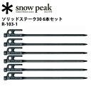 スノーピーク (snow peak) 【6本セット】 テント スノーピーク ペグ ソリッドステーク30 6本セット タープ小物 R-103-1【SP-TACC】