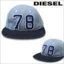 ディーゼル 帽子 DIESEL キャップ 00SHSI00TAGZ 8EV ブルー メンズ レディース