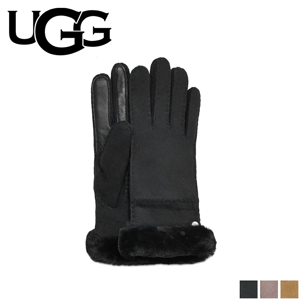 UGG アグ 手袋 グローブ レディース SEAMED TECH GLOVE スマホ対応 ブラック グレー ブラウン 17371BX