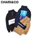 CHARI&CO チャリアンドコー ジャケット トラックジャケット ハーフジップ メンズ 333 HIGH NECK PULLOVER ブラック ネイビー ベージュ 黒