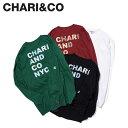 CHARI&CO チャリアンドコー Tシャツ 長袖 メンズ ロンT ANIMAL LOGO L/S TEE ブラック ホワイト バーガンディー グリーン