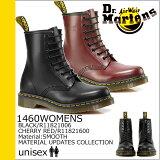 ドクターマーチン/Dr.Martens/ 1460 WOMENS 8ホール ブーツ [ブラック/チェリーレッド] 11821006 11821600 MATERIAL UPDATES /スムースレザー