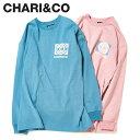 CHARI&CO チャリアンドコー Tシャツ メンズ 長袖 ロンT BREMBO CCC L/S TEE ローズ ピンク ライト ブルー