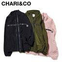 CHARI&CO チャリアンドコー ジャケット トラックジャケット メンズ REFLECT LINE TRUCK JKT ブラック カーキ ローズ ピンク 黒