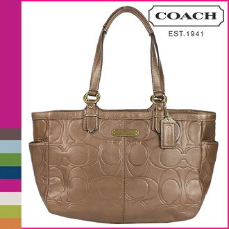 Coach COACH tote bag copper ギャラリーエンボスドレザートート