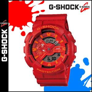 カシオCASIOG-SHOCK腕時計GA-110AC-4AJFBLUEANDREDSERIESGショックGSHOCKレッドメンズレディースあす楽