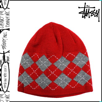 Stussy STUSSY knit Cap [Red] Beanie knit hat men [12 / 28 new in stock] [regular]